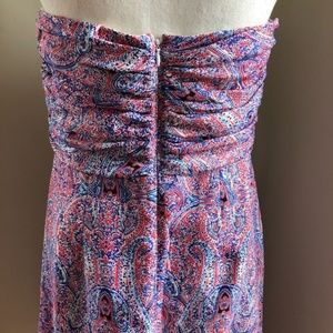 Outback Red Dresses - Outback Red paisley print strapless dress